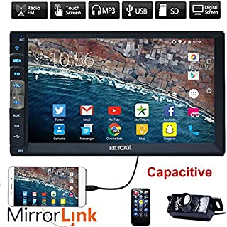 Upgarde Version 7 Inch Capacitive Touch Screen Audio (Mirror Link for GPS of Android..