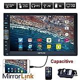 New Brand Upgarde versione capacitivo da 7 pollici touch screen Audio (Mirror Link for GPS Android Phone) Doppia 2 DIN Stereo Bluetooth in precipitare Radio Video auto senza lettore DVD + telecamera