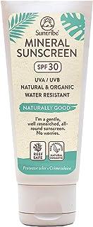 Crema Solar Mineral Cuerpo & Cara Suntribe - FPS 30 - Biodegradable - Òxido de Zinc (Filtro UV Mineral) - Resistente al agua - 8 Ingredientes - Nuevo: less visible (100 ml)