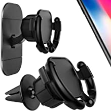 GONJOY [2 Pack] Car Phone Mount Holder, Car Mount Clip 360° Rotation with Holder Cable Clip,Air Vent Mount Switch Lock for GPS Navigation Compatible with Phone X/8, Note 8/S9+