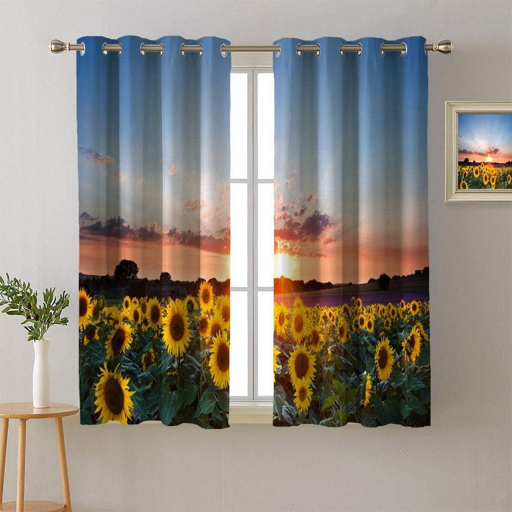 Matamade Triple 送料0円 Weave Blackout 期間限定特価品 Grommets Curtains Sunflo