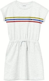 Girls' Striped Belted Dress