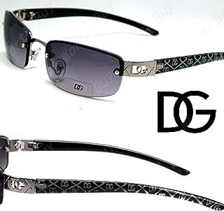 ca0db8743501 DG Eyewear Womens Small Rectangular Oval Sunglasses Designer Fashion Shades