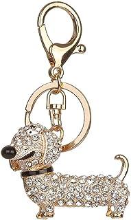 Bluelans Fashion Dackel Hund Legierung Strass Schlüsselanhänger Tasche Auto Anhänger Dekor Schlüsselanhänger