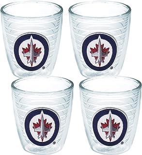 Tervis 1064966 NHL Winnipeg Jets Primary Logo Tumbler with Emblem 4 Pack 12oz, Clear