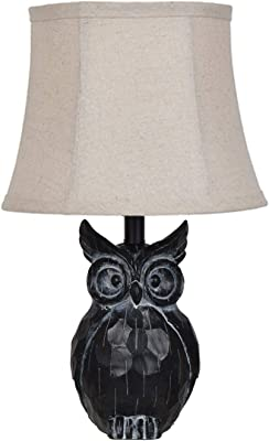 "Crestview Collection EVAVP1133 16.5"" Owl Resin Table Lamp Evolution Lighting"