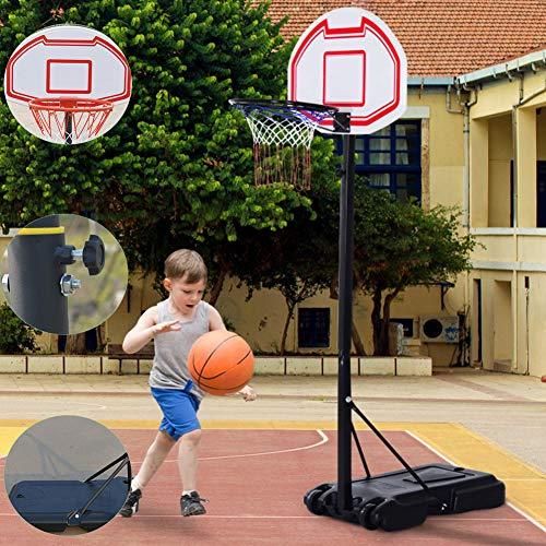 YXYBABA Basketball-Backboard 155-210CM Kinder Einstellbare Basketballständer Mit Ständer Tragbar Korbanlage Outdoor Basketballanlage Höhenverstellbar