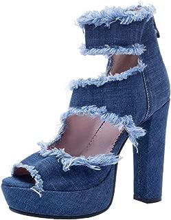 FANIMILA Women Fashion Block Heels Summer Bootie Shoes Ankle Strap