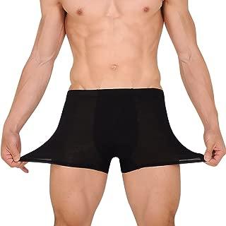 Sanwooden Men Breathable Boxers Underwear U Convex Briefs Middle Waist Shorts Underpants