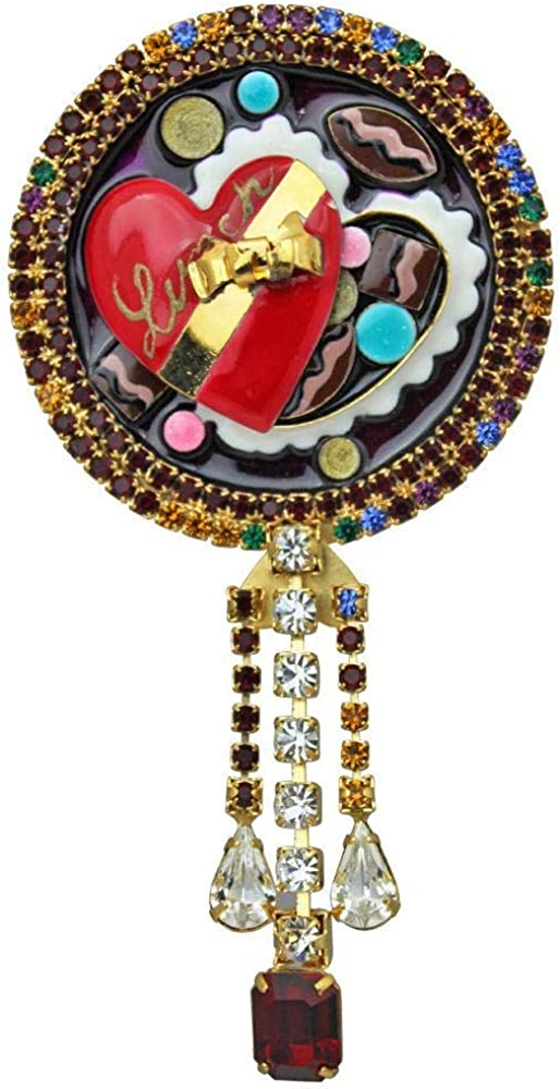 Lunch At The Ritz Women's 24K Sweet Almond Clusters Brooch Pin Pendant (Goldtone) - Rare from Esme's Vault