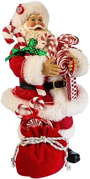 Kurt S Adler 10 5 Santa With Candy And Sack Figure