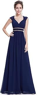 Women's Elegant V-Neck Sleeveless Formal Long Evening Dress 08697