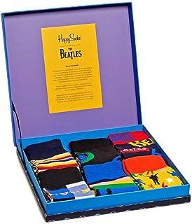 6-pack De Los Beatles Lp Coleccionistas Calcetines Para Hombre Caja De Regalo, Camino De La Abadía