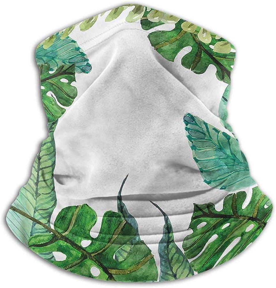 Neck Gaiters For Men Leaf For Dust, Outdoors, Festivals, Sports Garden Botanical Herbal Forest 10 x 12 Inch