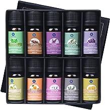 Lagunamoon Essential Oils Top 10 Gift Set Pure Essential Oils Gift Set for Diffuser, Humidifier, Massage, Aromatherapy, Skin & Hair Care