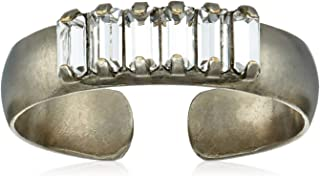 Sorrelli Lisa Oswald Collection Women's Band Together Adjustable Ring, Clear, 0.5