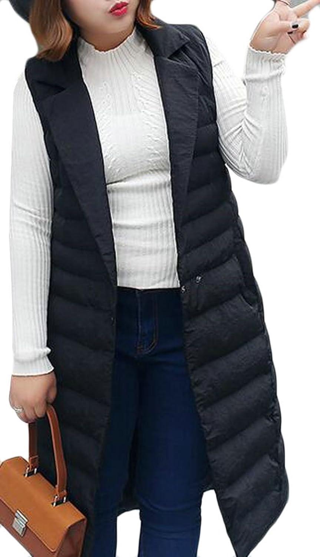 Generic Women's Long Down Vest Puffer Lightweight Down Jacket Coat