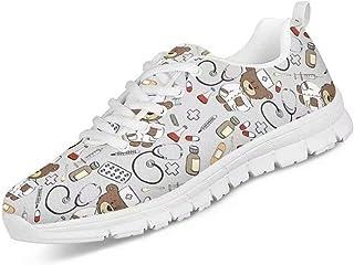 chaqlin Femmes Hommes Sneaker Lace up infirmière en Plein air Chaussures Baskets de Loisir léger Formateur Confortable Plu...