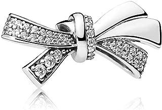 PANDORA Brilliant Bow Oversize Charm, Clear Cz, 797241CZ