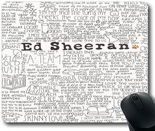 Ed Sheeran Quotes _ 013personalizadas juegos alfombrilla de ratón de goma Durable escritorio para ordenador Stationery Accesorios Ratón almohadillas para regalo, !color-04, 7