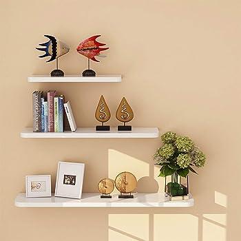 aimu Scaffale decorativo da parete, con mensole in legno