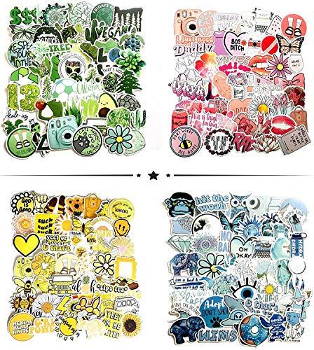 HIQE-FL KofferAufkleber,Zufällige Aufkleber Pack,Stickerbomb Sticker Decals,Aufkleber Mädchen Groß,Süße Aufkleber,Skateboard Aufkleber Mädchen,Laptop Decals