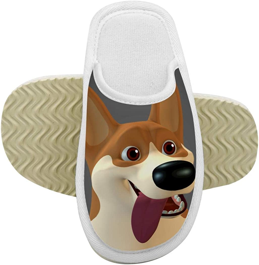 House Slippers Boston Terriers Dog Memory Foam Indoor Home Slippers Anti-Slip Shoes for Boys Girls
