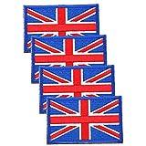 Parches de velcro de la bandera del Reino Unido de Skystuff para coser en parches e insignias para ropa