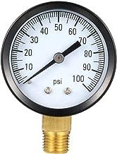 uxcell Pressure Gauge, 100 Psi, 1-25/32