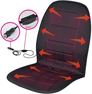 BDK SC-056 Travel Warmer - Heated Seat Cushion 12-Volt Padded Thermal Release for Car SUV Van Truck & Office Chair