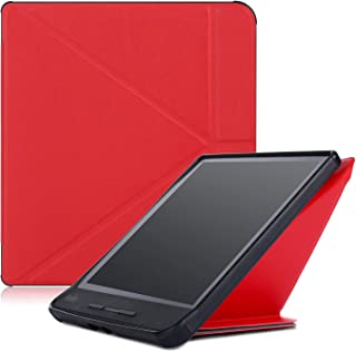 Kobo Forma Case,MonsDirect Ultra Slim Lightweight Case Smart Leather Protective Cover for New Kobo Forma E-Reader 2018 with Auto Wake Sleep Function,Red