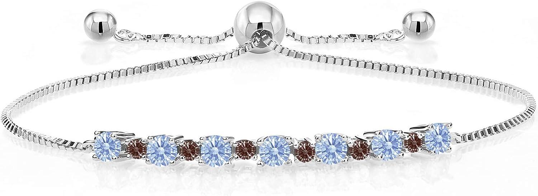 Gem Stone Special price King 925 Sterling Silver Bracelet Max 64% OFF fo Tennis Adjustable