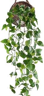 HUAESIN Enredaderas Artificiales para Exterior e Interior Verde Plantas Hiedra Artificial Colgante Falsa Hojas Guirnlada E...