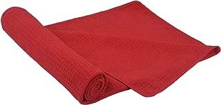 SINLAND Microfiber Hair Drying Towel Waffle Weave Towel Extra Large Hand Towels 20InchX40Inch Amaranth