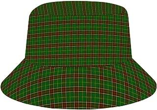Hatmore - Sun Hat for Men/Women,Outdoor Packable Travel Bucket Cap Hats for Safari Fishing Hiking Beach Golf-Green red Newfoundland Tartan Plaid