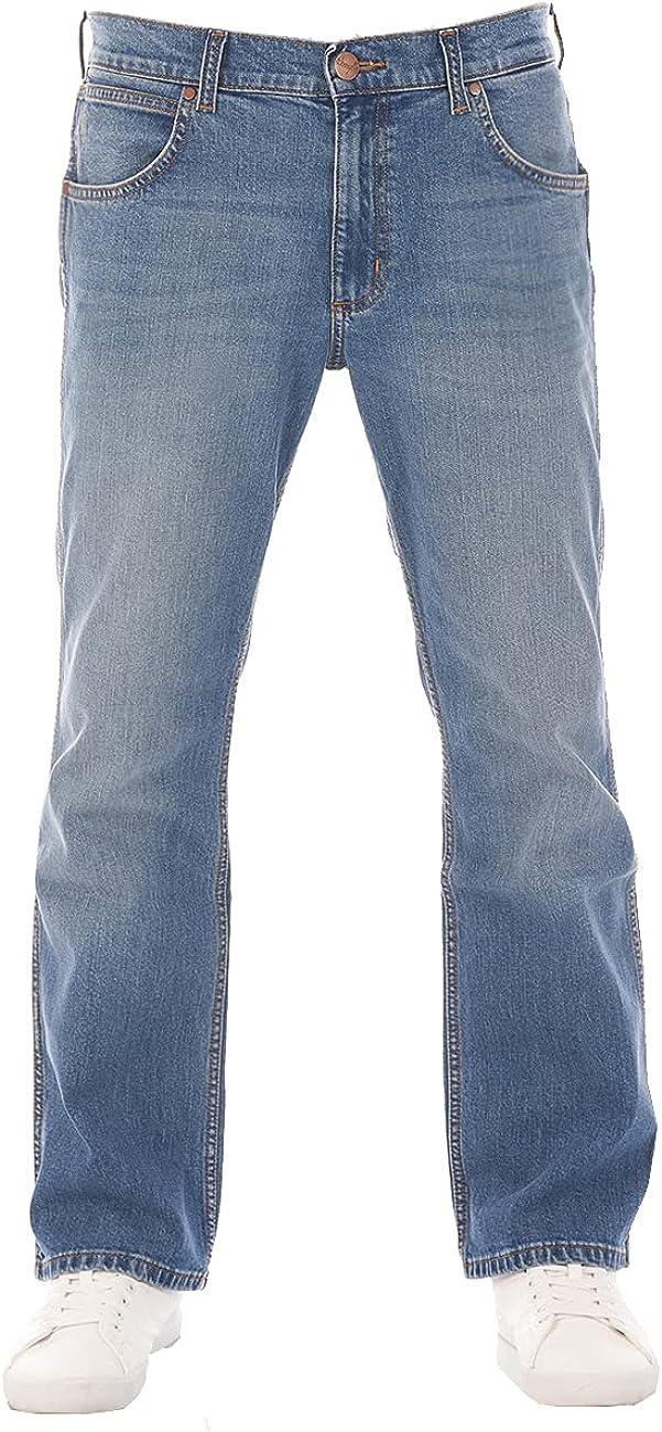Wrangler Jacksville w30-w44 - Pantalones vaqueros para hombre, 100 % algodón, color negro y azul