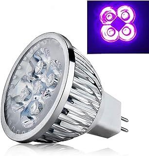 4W MR16 Base UV LED Ultravioleta Proyector LED Bombilla Lámpara de casa Bombilla 12V