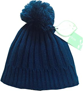 Toddler Infant Boys Girls Winter Warm Fleece Solid Knit Hat Skull Pom Beanie
