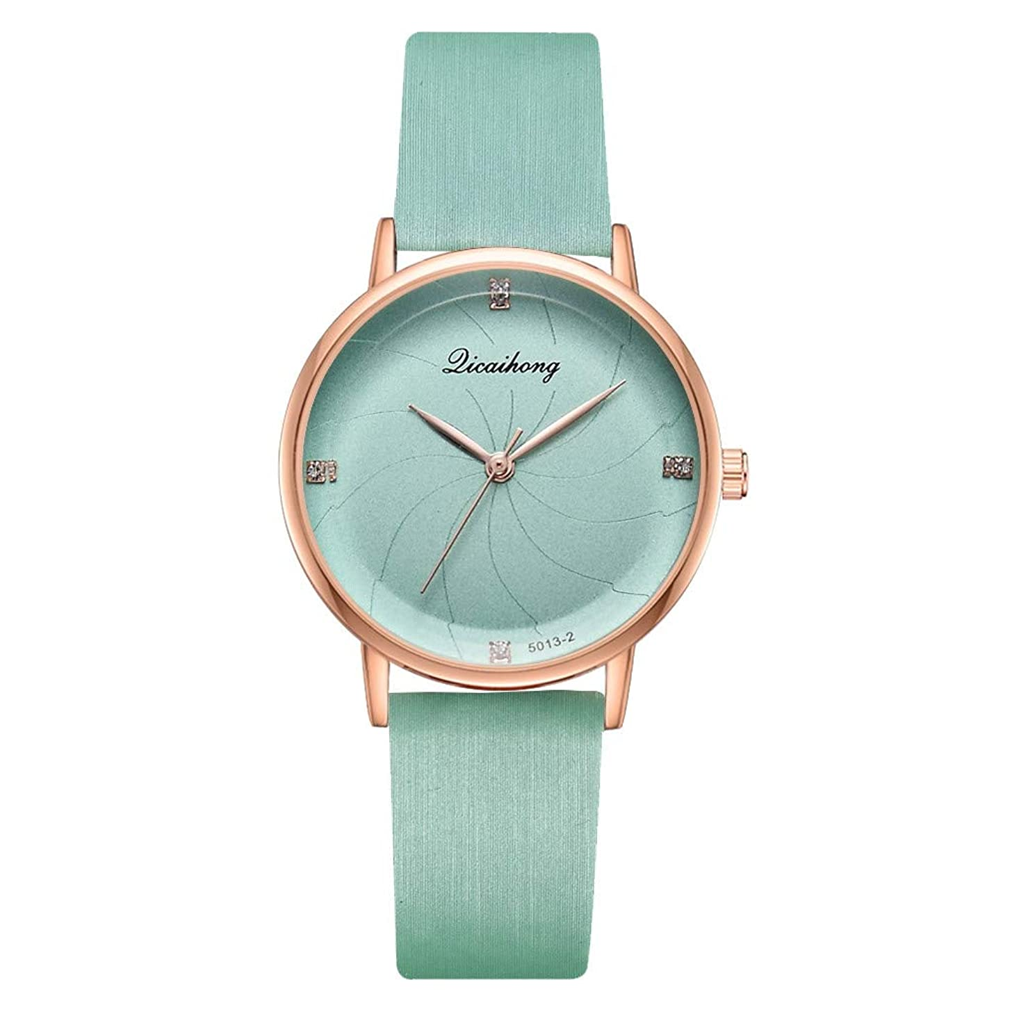 LUCAMORE Women Watches Leather Strap Round Dial Analog Fashion Ladies Watch on Sale Wrist Watch