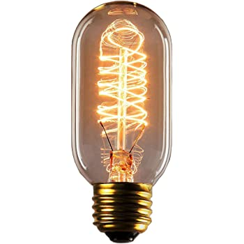 Vintage Edison Bulbs, Rolay 25 Watt T45 Edison Style Square Spiral Filament Incandescent Light Bulb, 1 Pack