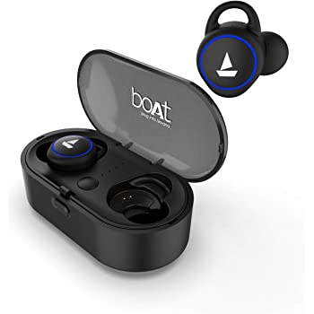 boAt Airdopes 311V2 True Wireless Ear-Buds with BT V5.0, Up to 15.5H Total Playback, IPX5 Water Resistance, Built-in Mic and Voice Assistant(Active Black)