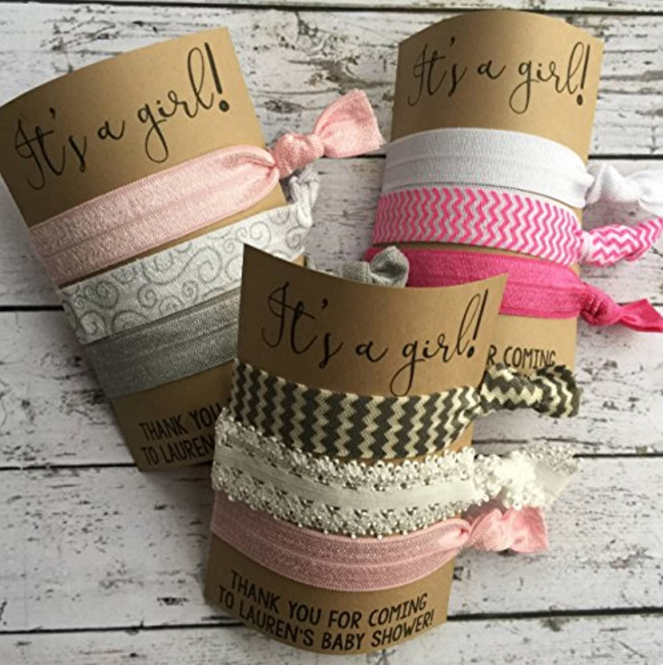 It's a Girl - Baby Shower Hair Ties