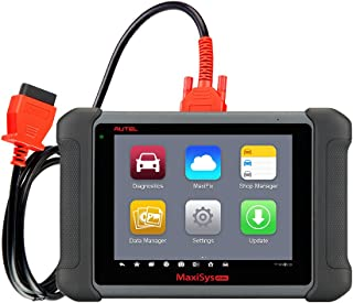 Autel MS906 MaxiSys OBDII Diagnostic Scanner with Bi-Directional Control, Active Tests, Key Fob Programming, ECU Coding, Bleeding Brake, EPB, ABS, SRS, SAS, DPF