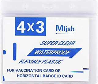 """3 Pack CDC Vaccination Card Protector,4 X 3"""" Immunization Record Vaccine Card Holder, Waterproof Clear"""