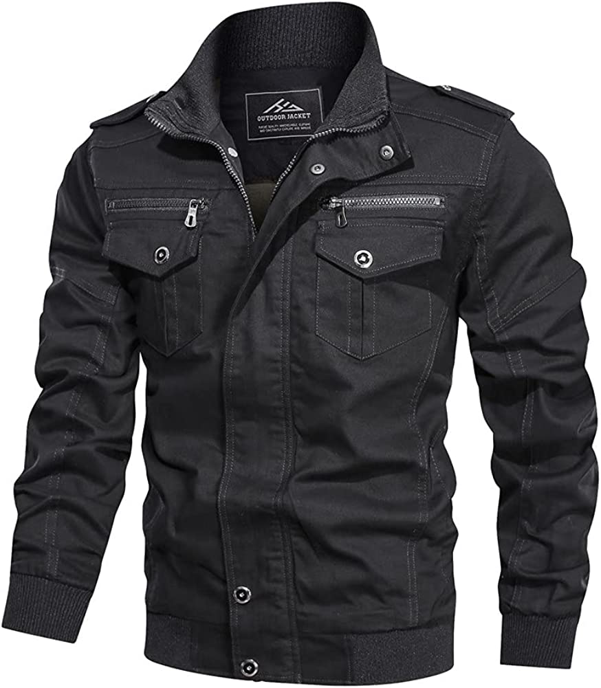 HJWWIN Men's Lightweight Free shipping anywhere in the Regular dealer nation Cotton Military Spring Autu Jackets and