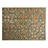 FASÄDE Traditional Style/Pattern 1 Decorative Vinyl Backsplash 18 sq ft Kit in Copper Fantasy