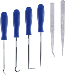 Caydo 6 Pieces Stainless Steel Precision Craft Vinyl Weeding Tools Craft Basic Set Craft Vinyl Tools
