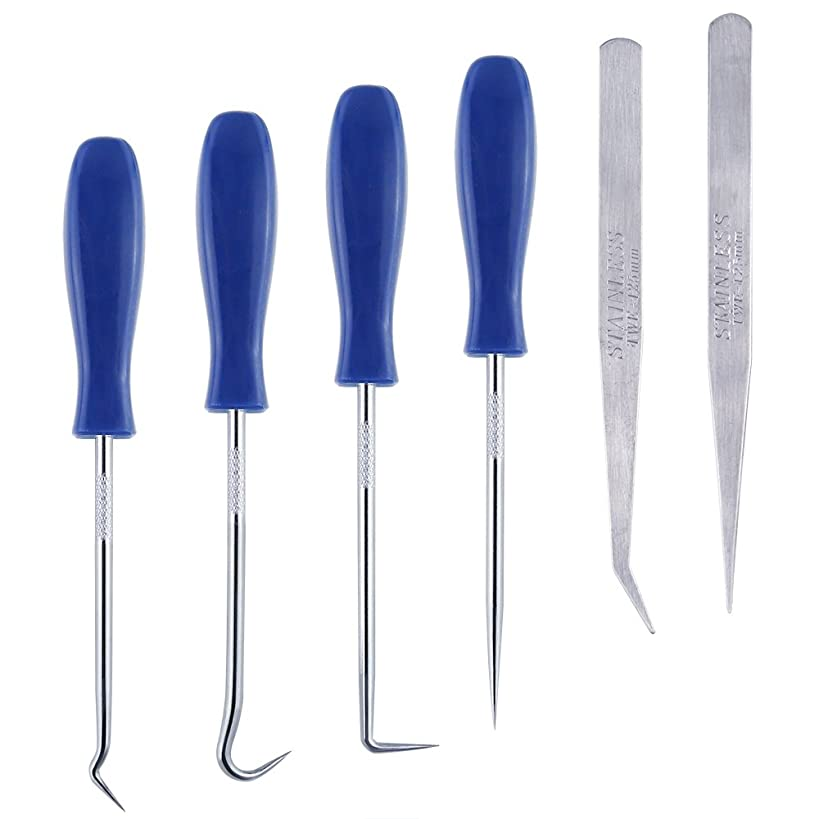Caydo?6 Pieces?Stainless?Steel?Precision?Craft?Vinyl?Weeding?Tools Craft Basic Set Craft Vinyl Tools