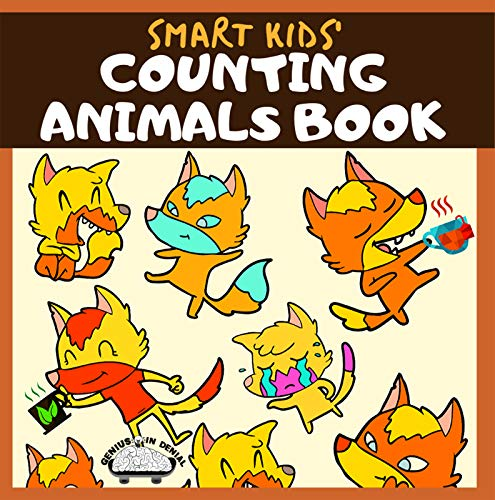 Smart Kids' Counting Animals Book: Fun, Activity Workbook for Kindergarten Children, Preschoolers (English Edition)