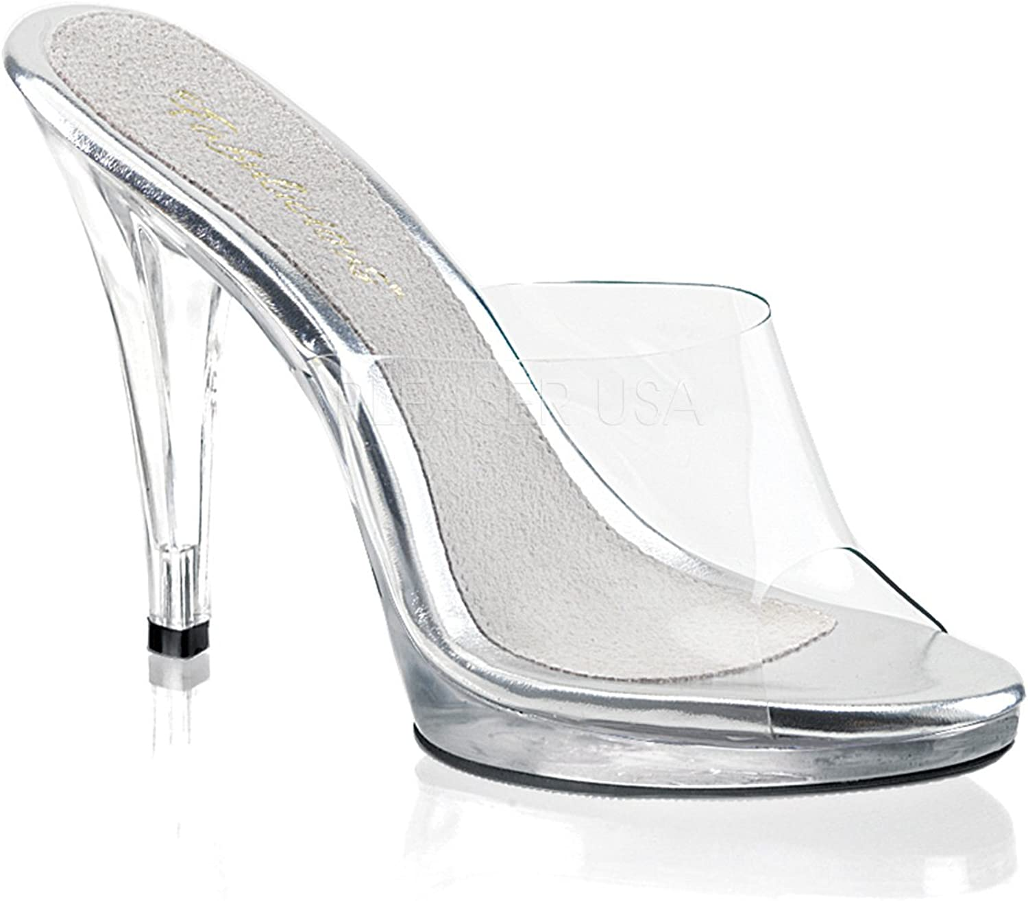 Fabulicious Women's Flair 401 Slide Sandals,Transparent,15 M Clear Clear